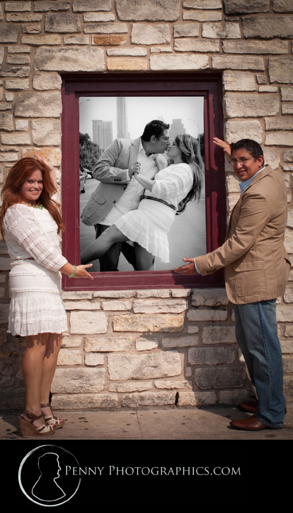Picture within picture | Downtown Austin Engagment