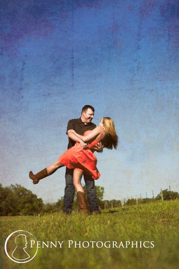 Engagement photos in the country side La Grange TX