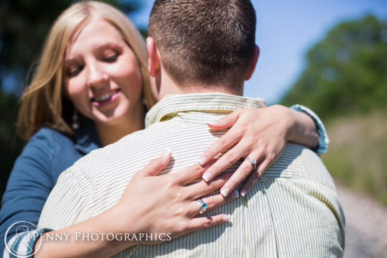 Engagement photos by the Train Tracks in LaGrange TX