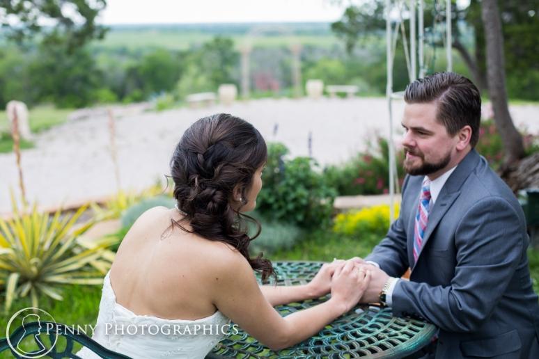 Wedding Portraits in the garden at TerrAdorna in Manor, TX