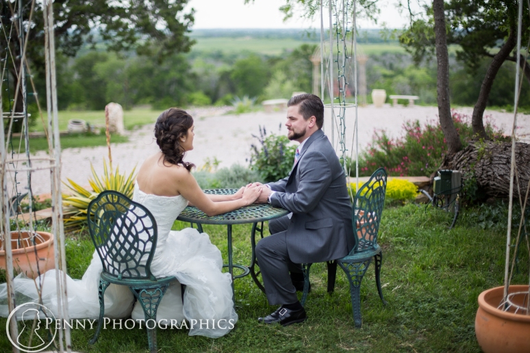 Wedding Portraits in the garden at TerrAdorna in Manor, TX