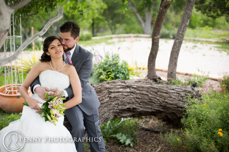 Wedding Portraits outdoor in garden at TerrAdorna in Manor, TX