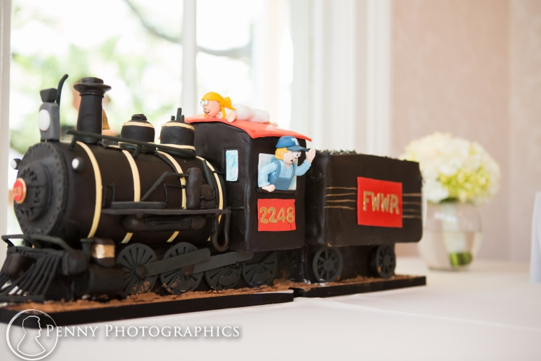 Grooms train cake at Allan house in Austin, TX
