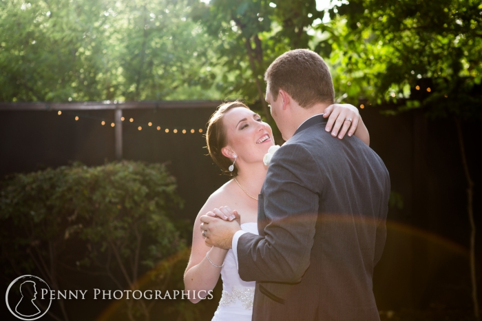 Couples first dance outside at Allan house in Austin, TX