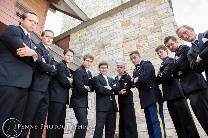 Groom and groomsmen outside at Georgetown, TX