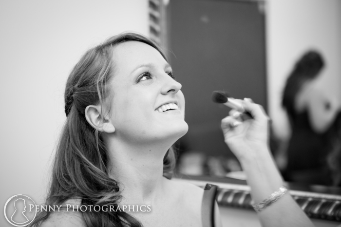 Bride getting ready in Church in Georgetown TX