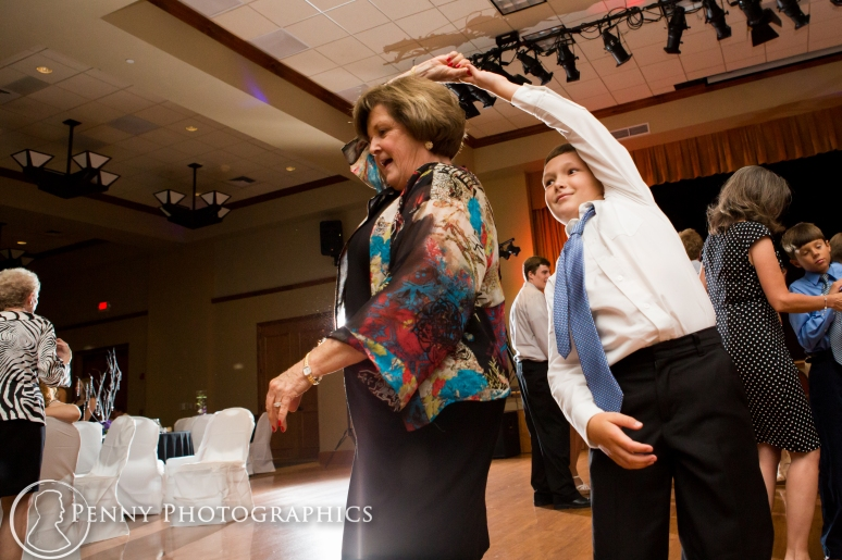 Wedding reception dancing at SunCity Ballroom