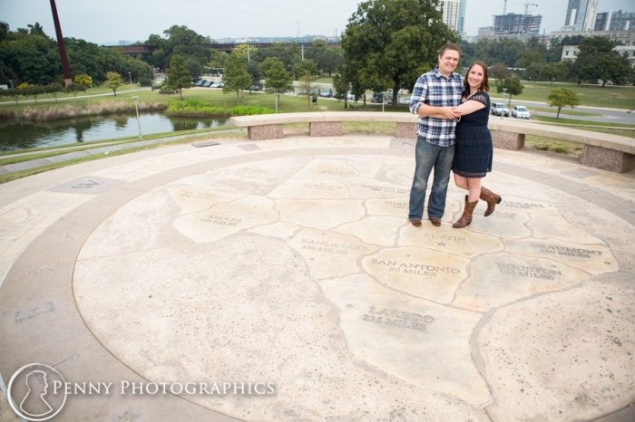 Couple at Butler park in Austin TX