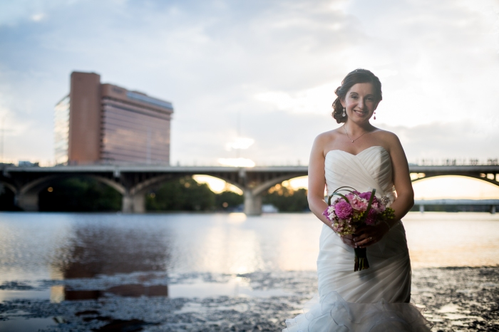 bridal portraits on congress bridge in austin tx