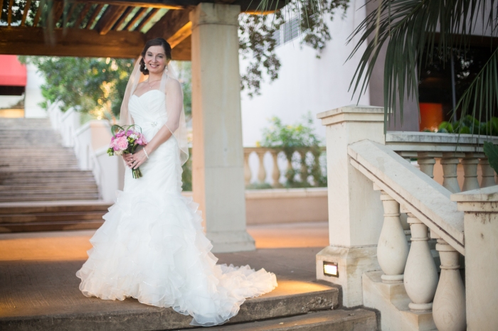 bridal portraits in a gazebo