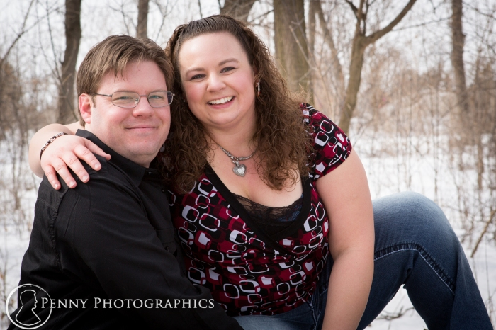 engagement portraits during winter in Minnesota