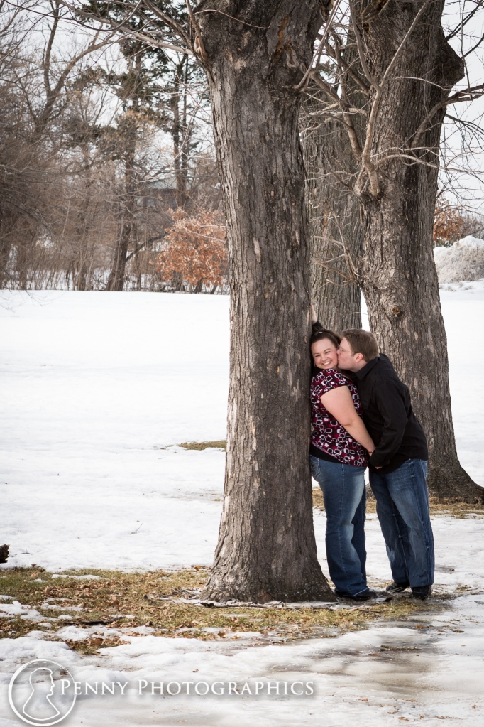 Outdoor winter portraits in Minneapolis