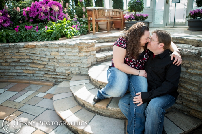 engagement portraits at Como Conservatory St Paul