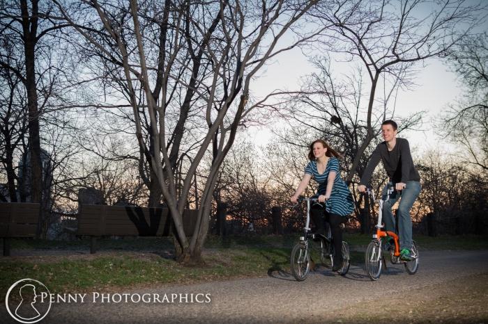 bike engagement near Mill District Minneapolis