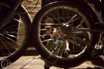 bike engagement session by Mill District Minneapolis