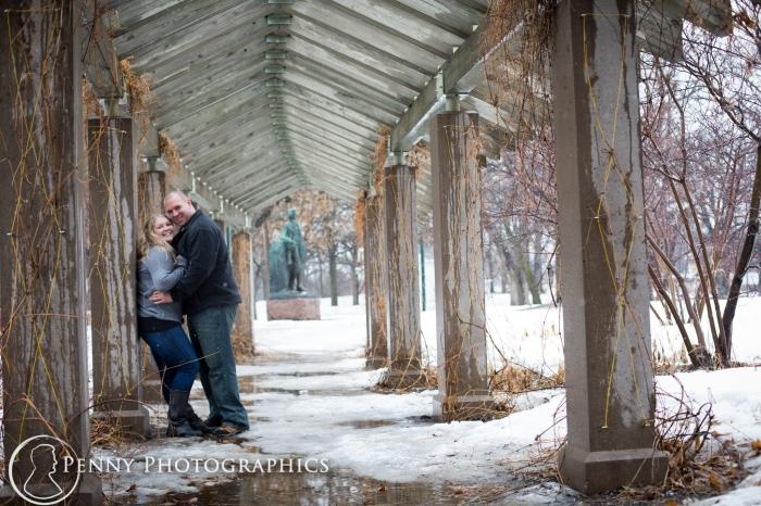 portraits at Minnehaha falls park Minnesota