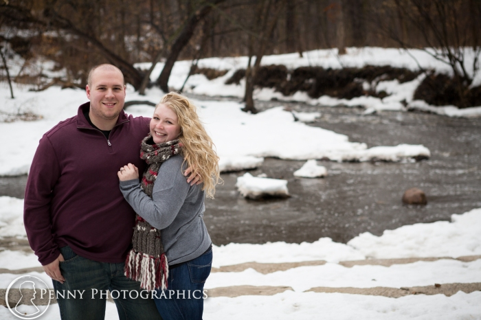 by the lake engagement photos Minnehaha park