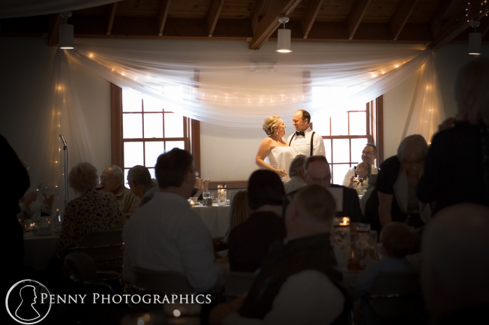 Couple at Earle Brown reception  MN