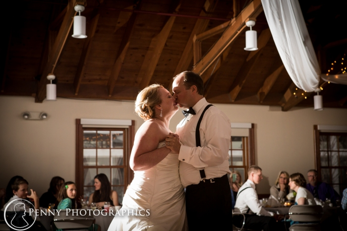 bride and grooms first dance at the Earle Brown Reception MN