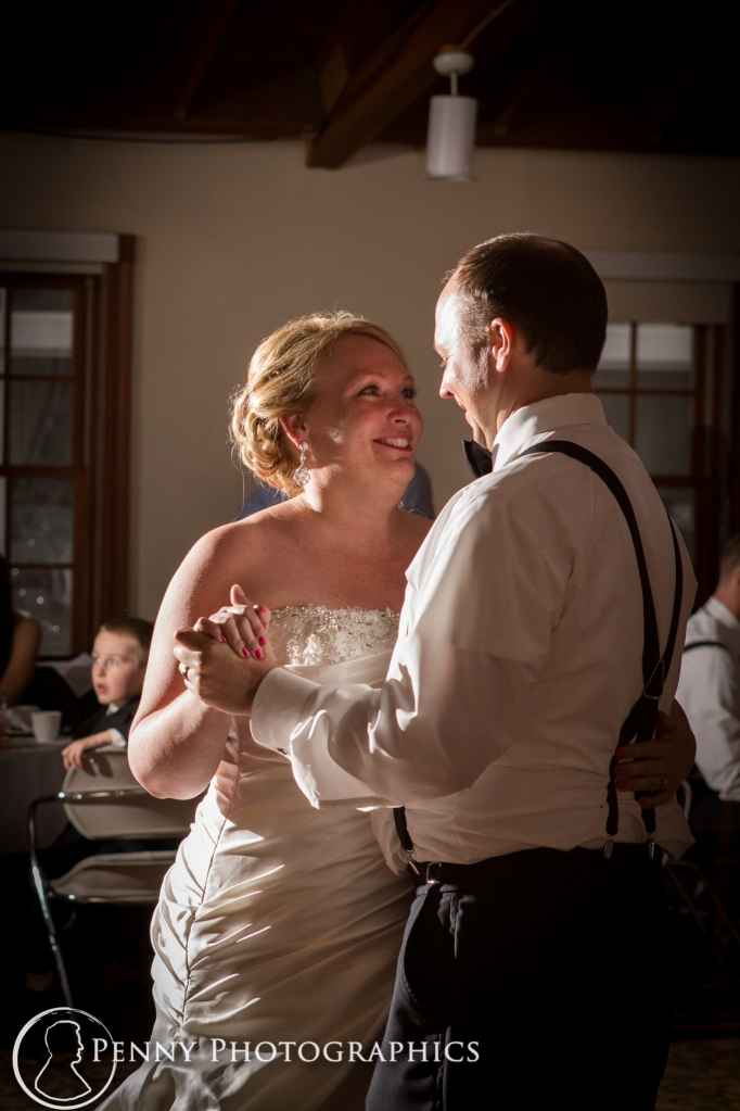 bride and groom dancing to first dance at the Earle Brown MN