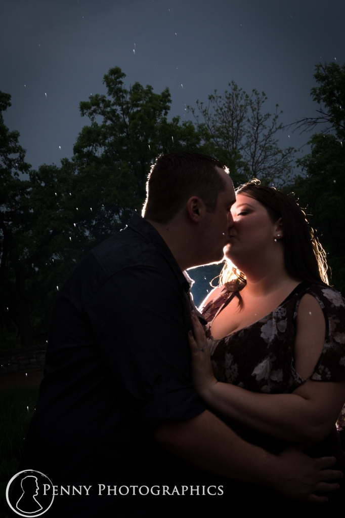 Outdoor night engagement photography Minenapolis