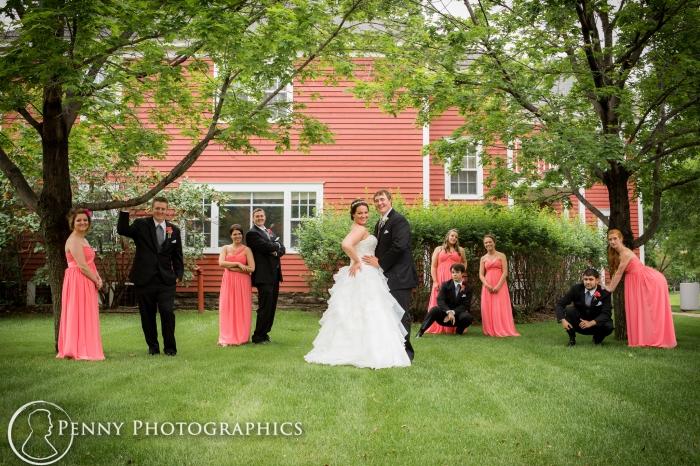 wedding party photos outdoors Earle brown center Minneapolis