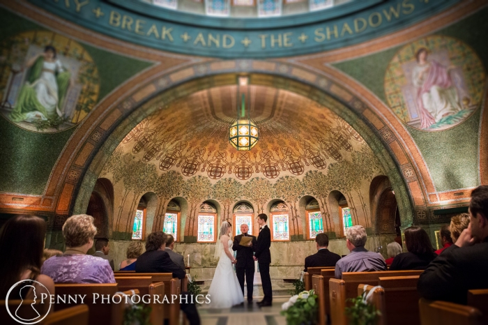 wedding at Lakewood Memorial Chapel in Minneapolis