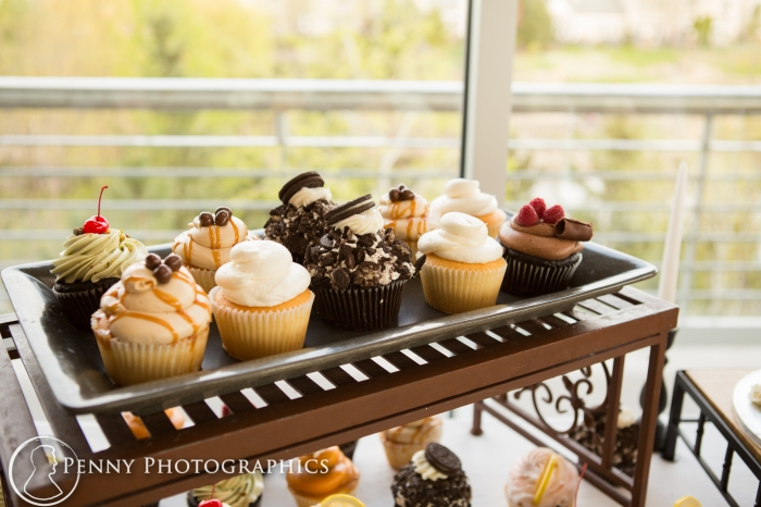 assortment of cupcakes at wedding reception