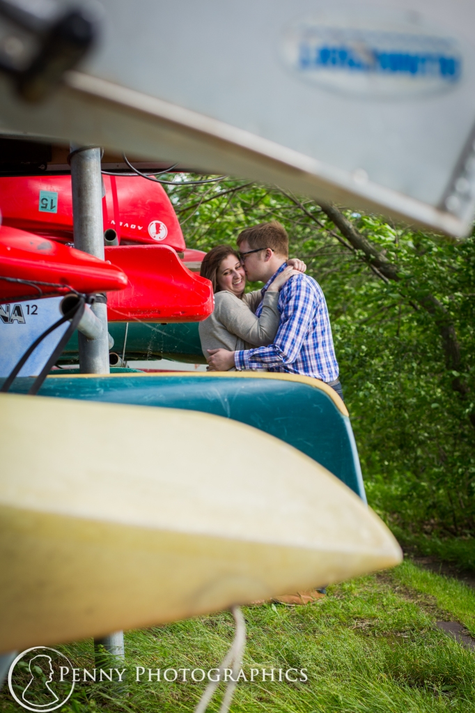 at the boat dock at Harriet Island Park engagement