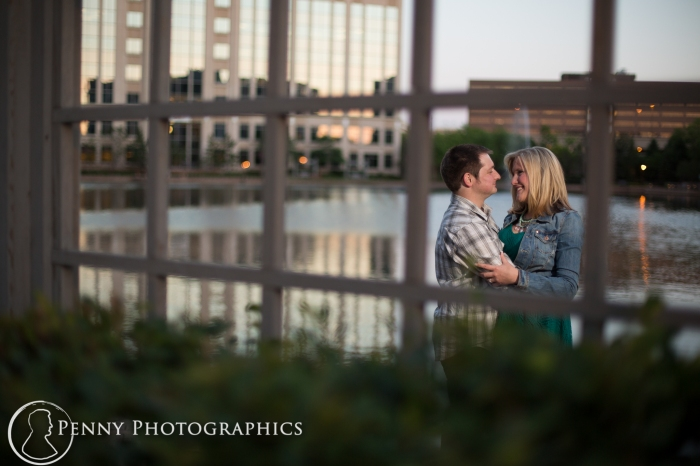 engagement shoot at centennial lakes Minneapolis