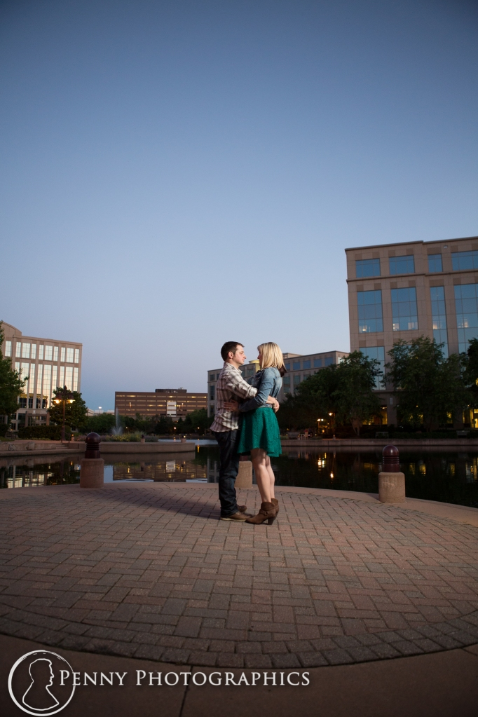 night time engagement shoot Minneapolis