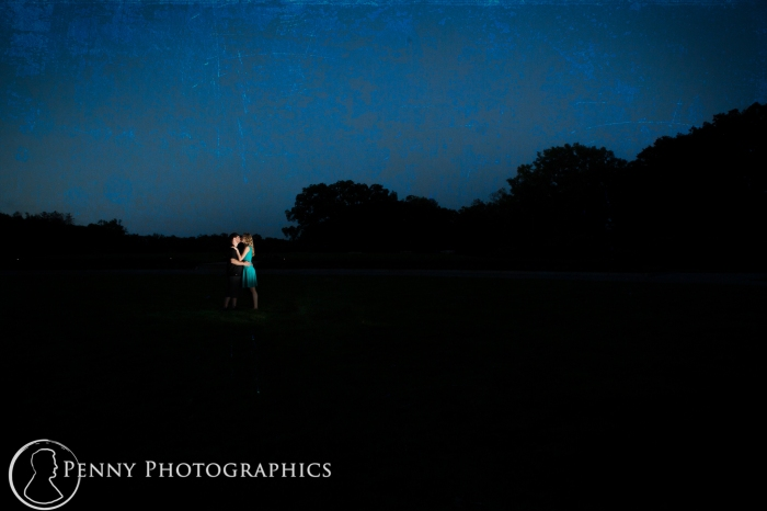 artistic outdoor night engagement photos