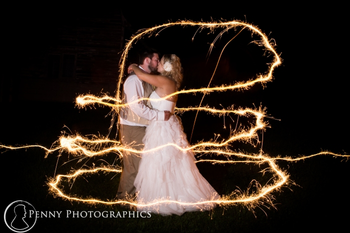 Wedding Sparkler photo at night Minneapolis photographer