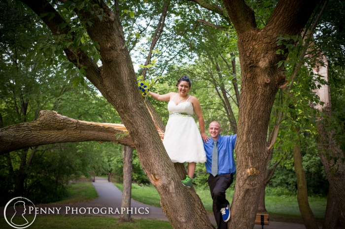 bride-in-tree-wedding-day
