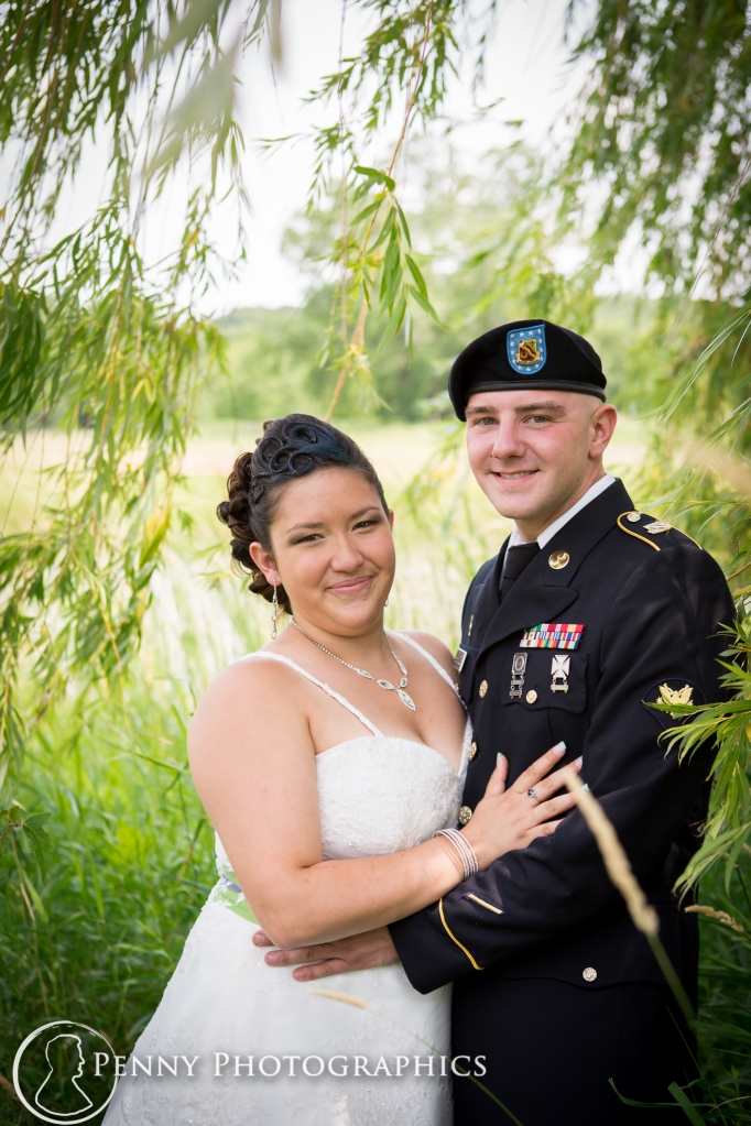 bride-military-groom-under-willow-tree