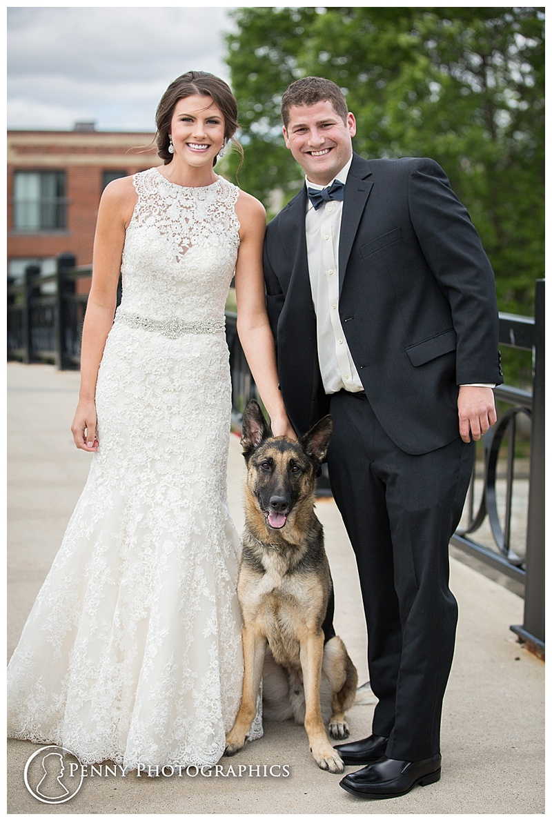 Pet First Look family wedding photo